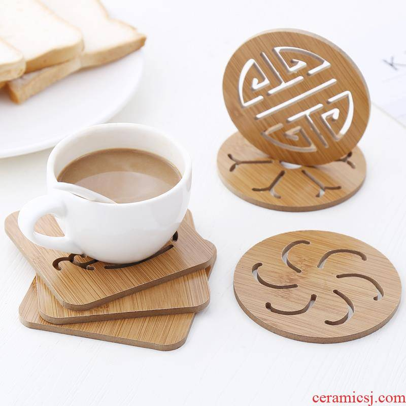Japanese insulation pad household cup mat bowls mat kitchen wooden hot plate 0 cup the eat mat table MATS
