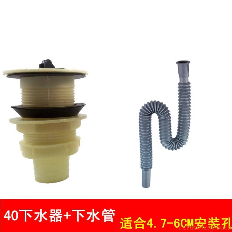 Old ceramic sink sink plastic mop pool water drainage for wash head chest against the stench, wash dish pool kitchen drain. Tapping