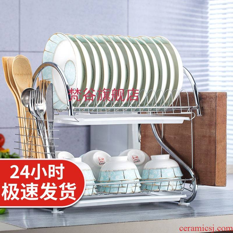 Double bowl kitchen drop shelf sink hang put the dishes chopsticks plate receive a case storage shelves