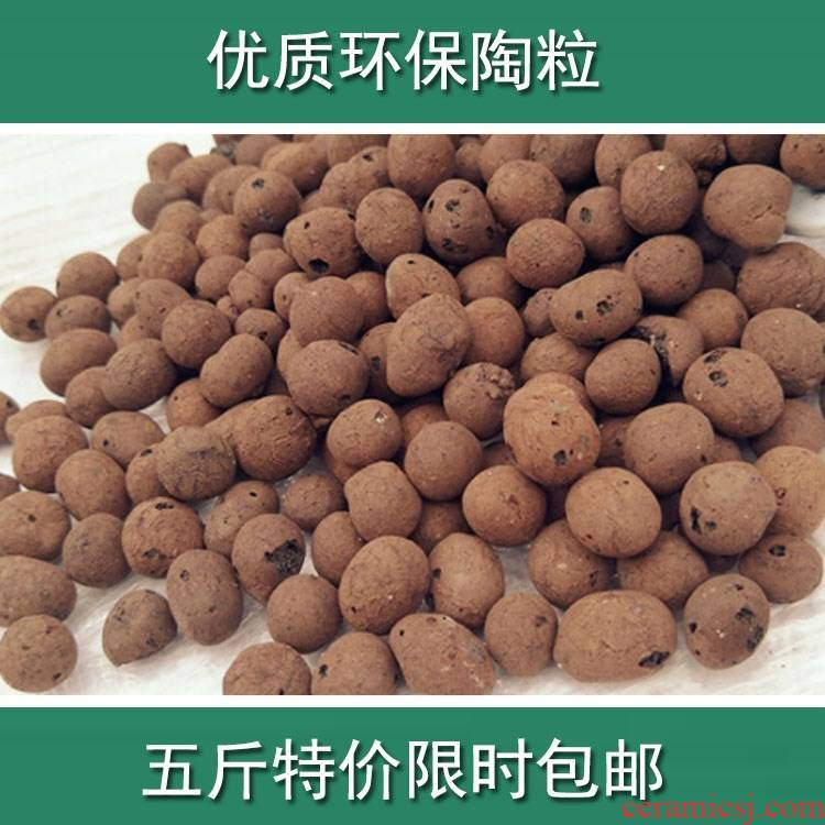 Ceramic grain of flowers have the clay ceramsite flowers flower POTS lay a breathable Shi Tao peach grain with bottom carbon Ceramic balls