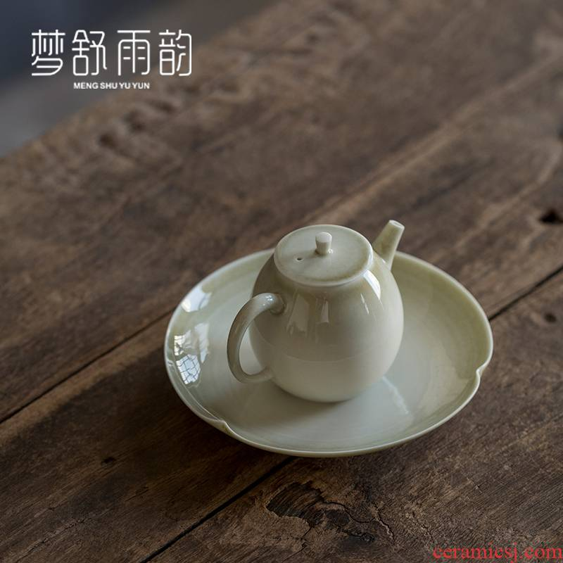 Dream ShuYu rhyme manual plant ash pot of bearing dry plate of tea table of the ceramic bearing Japanese creative kung fu tea tea saucer