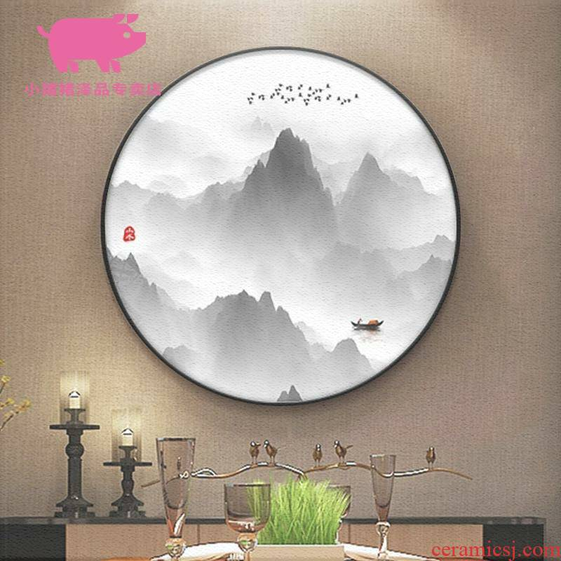 New Chinese style decoration painting landscape zen round the sitting room porch corridor corridor restaurant teahouse study mural that hang a picture