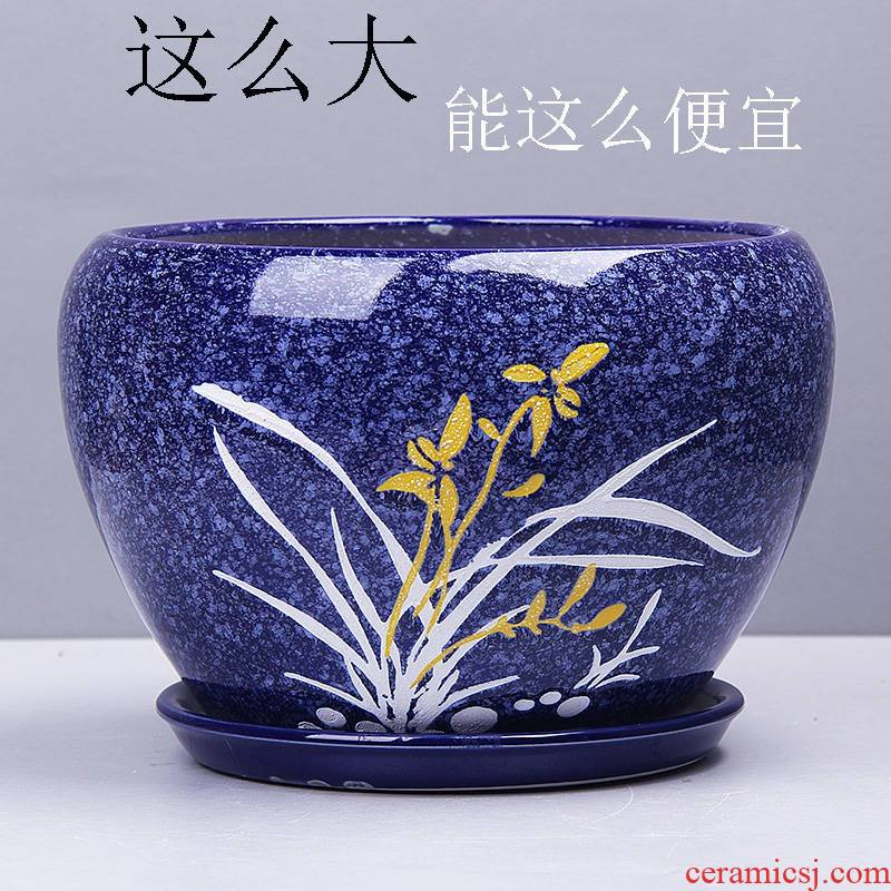 Colored glaze lucky lily flower POTS and ceramic faceplate hibiscus blue and white porcelain bowl long lace species more meat kind of jasmine