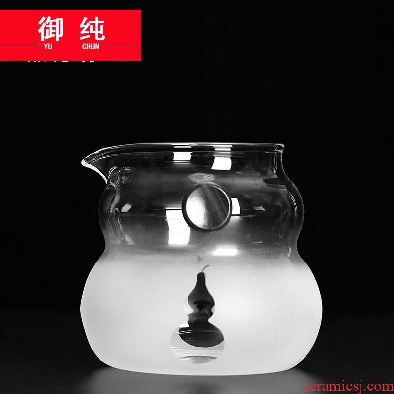 Royal male pure kung fu tea accessories heat - resistant glass tea cup points fair keller of tea ware thickening transparent sea pour tea