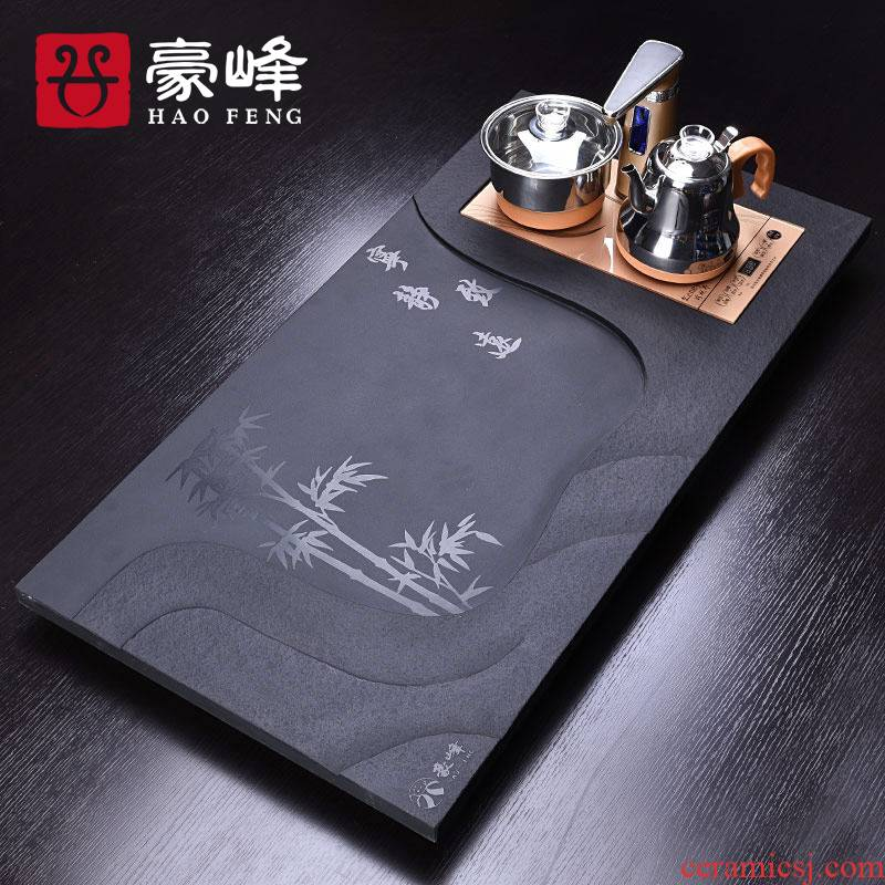 HaoFeng sharply stone tea tray was kung fu tea set four one household induction cooker whole stone tea tea set