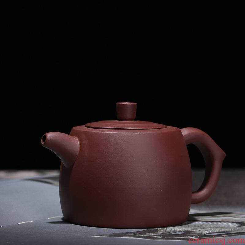 Yixing it checking kung fu tea set the teapot teacup single pot of household teapot well column are it