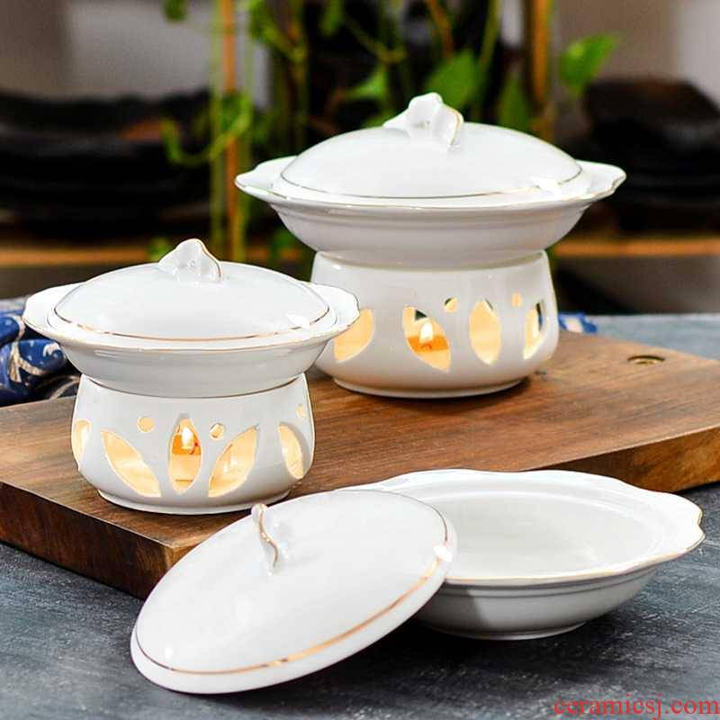 Hotel club up phnom penh Chinese ceramic tableware sea cucumber and bird 's nest candles heating a bowl dessert bowl with cover