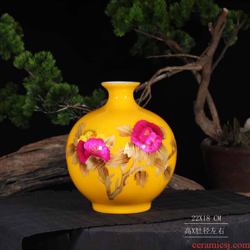 Jingdezhen elegant vase sitting room adornment that occupy the home furnishing articles wedding gifts red vase