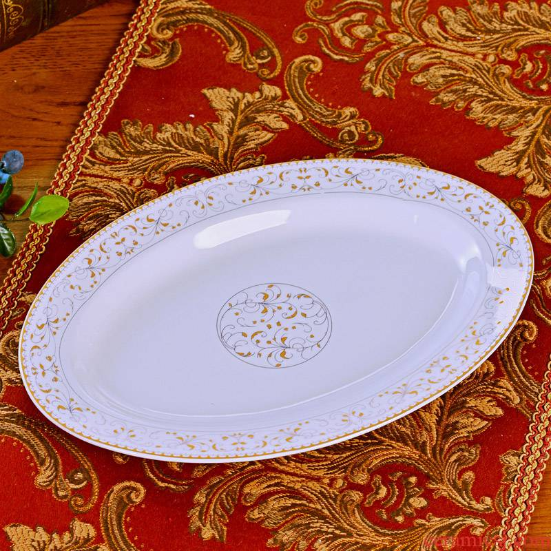 Jingdezhen new household ceramic fish plate tableware suit ceramic plate plate creative ceramic fish dish