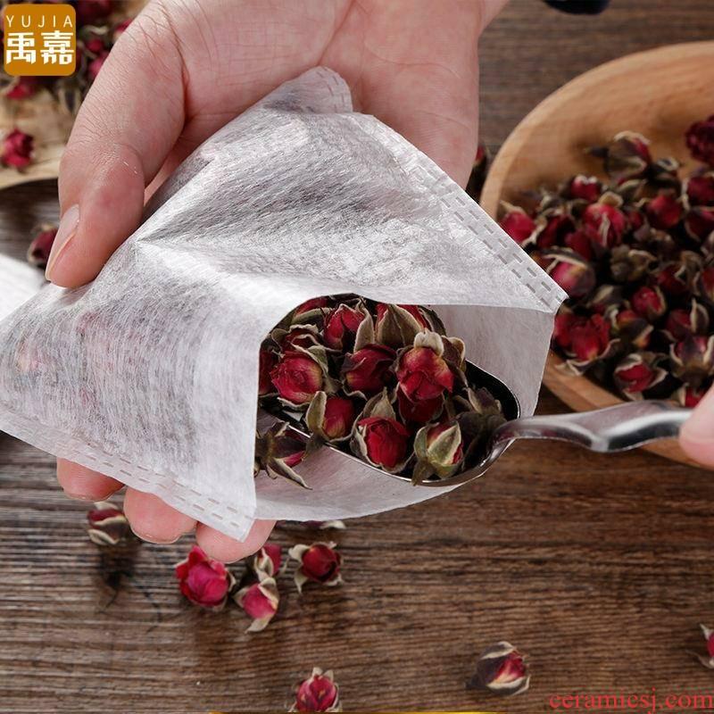 YuJia impreaaion nip make tea tea bag of corn fiber non - woven bag tea bag filter bag in one - time tea bags to boil tea