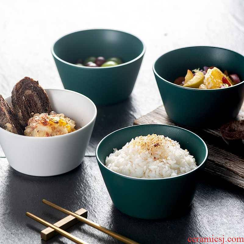 Creative Nordic ceramic bowl of rice bowls a single small bowl of ice cream dessert salad bowl bowl to eat bread and butter of household utensils