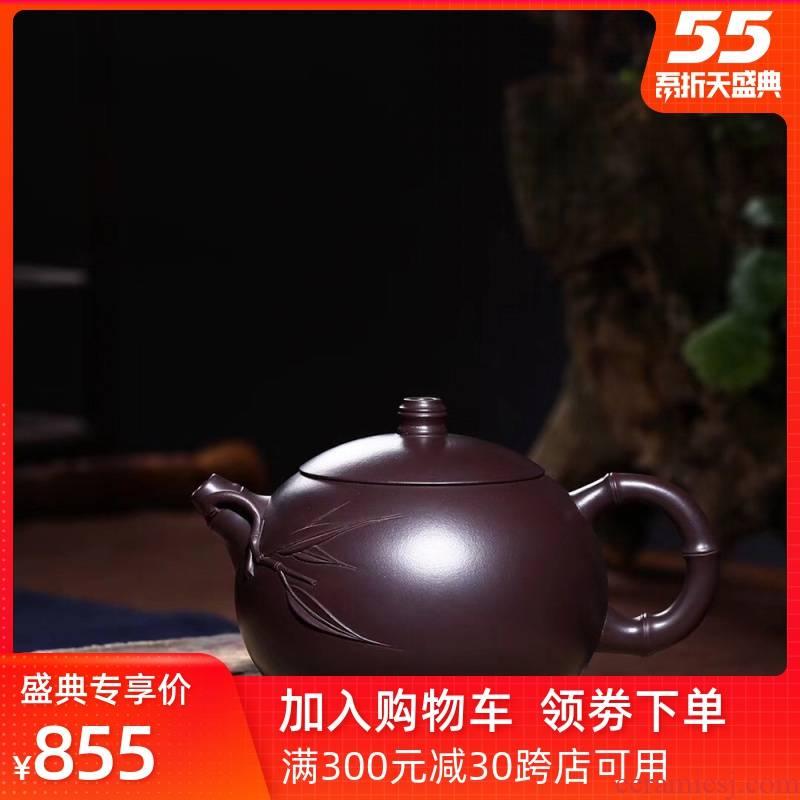Leopard lam, authentic yixing it pure manual kung fu tea tea set teapot ruyi xi shi single pot pot