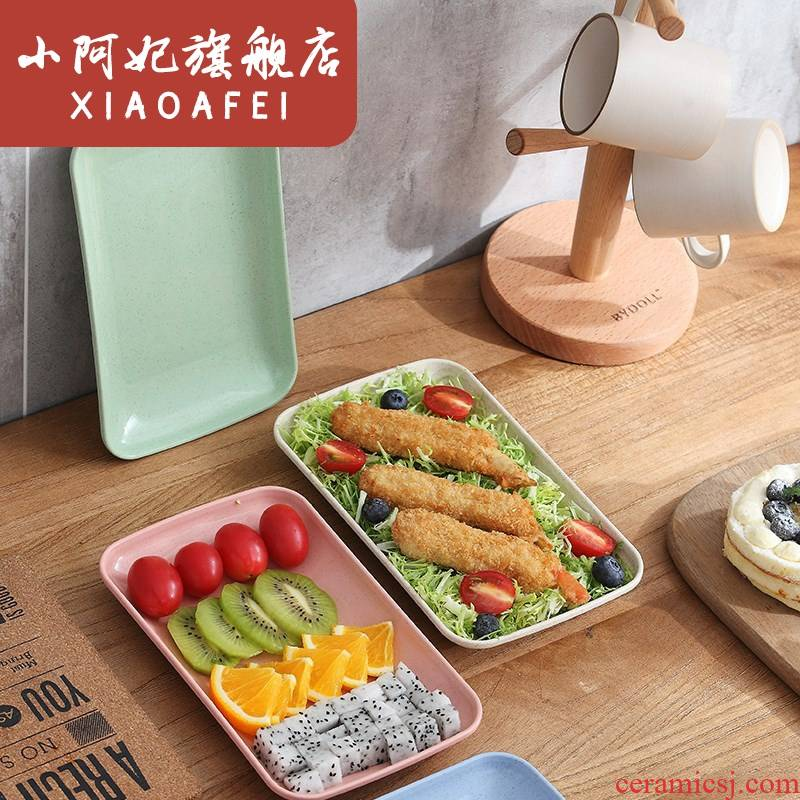 ; Steamed vermicelli roll snack plate of household utensils fruit pot barbecue base plastic ltd. rectangular dish of vegetables