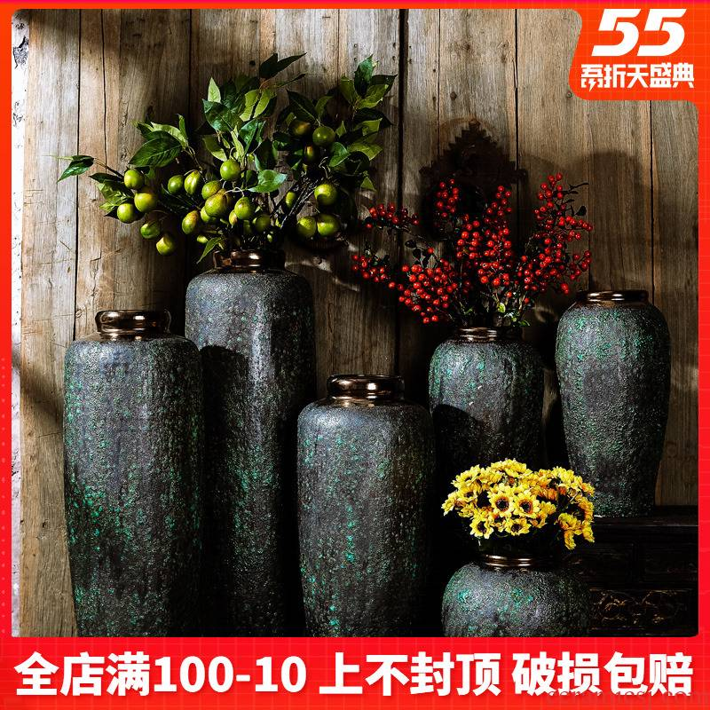 Jingdezhen ceramic coarse TaoGan flower arranging do old soil clay flowerpots restoring ancient ways of large vase furnishing articles sitting room adornment