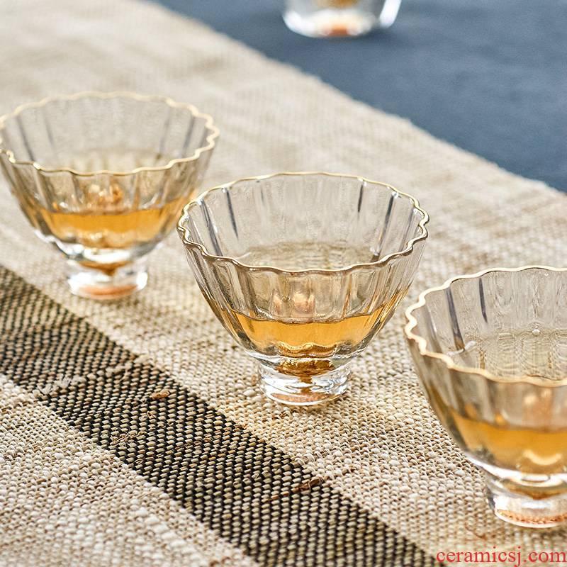 Kung fu qiu time Japanese heat - resistant glass tea cup cup of transparent glass sample tea cup tea large master