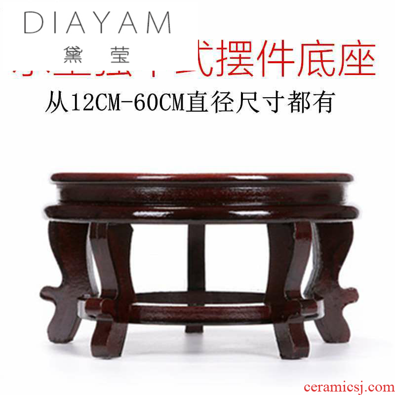 Diane jade - like stone wear it round as high solid wood vases, small pallet high pot bearing furnishing articles tank base