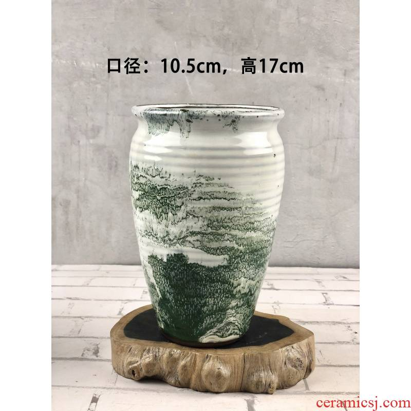 Special coarse pottery mage, old old running of large diameter running the basin more meat meat flowerpot money plant flower pot micro defects clearance