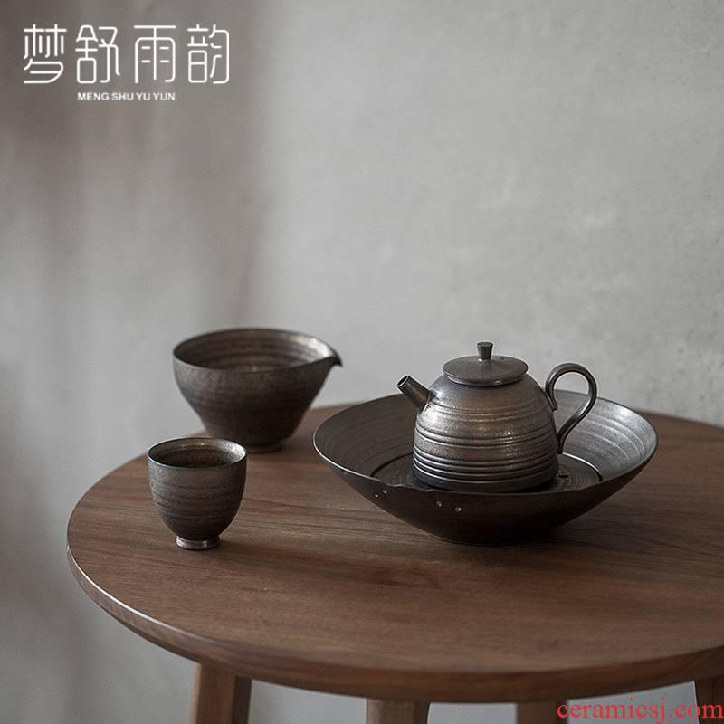 Dream ShuYu rhyme old pot set a pot of ceramic bearing pad dry mercifully tea tray was saving water Japanese zen tea taking retro kung fu