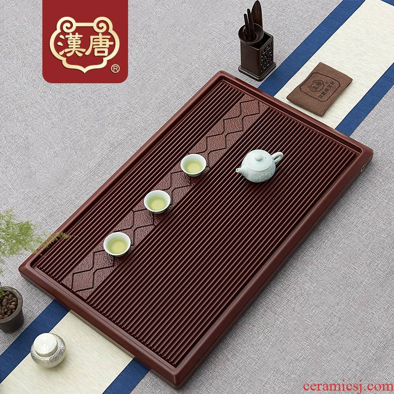 Han and tang dynasties bakelite household utensils contracted drainage rectangular ground tea sea electric bakelite monolayer sitting room tea table