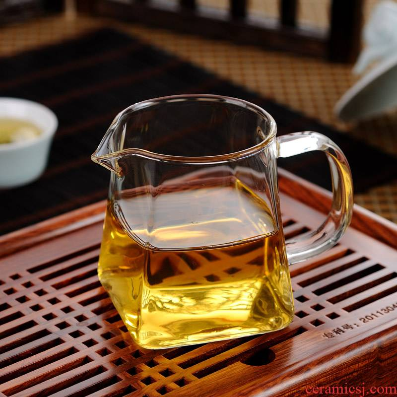 ZuoMing chick right device glass (300 ml transparent cup upset kung fu tea set take fair square cups of tea