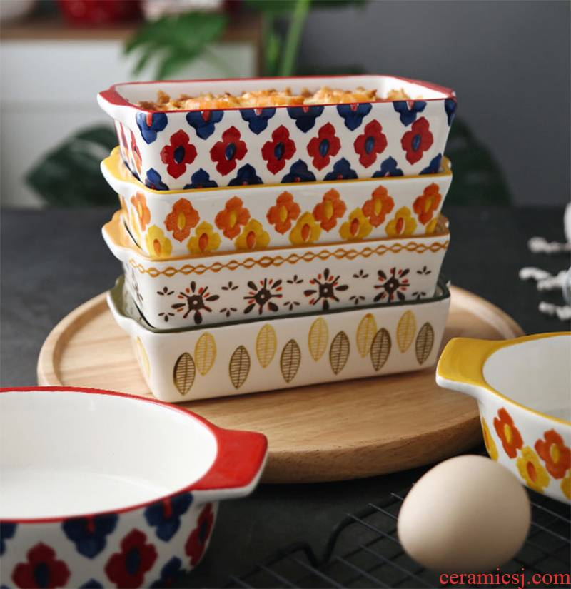 Microwave baking tray was special family dinner plate ceramic oven baked cheese bowl bowl dish dish creative plate