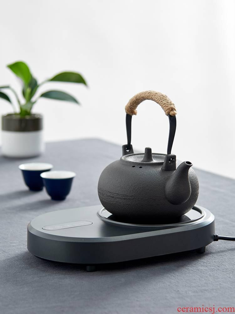Household ceramics girder kettle coarse pottery black glaze cooking pot high - capacity kung fu tea pot electricity TaoLu tea stove