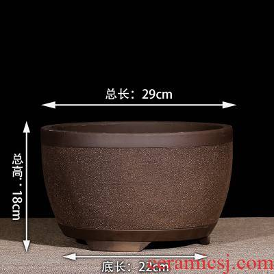 ~ purple large large flower pot Chinese wind ceramic extra large outside diameter of 30 cm bag flower pot.