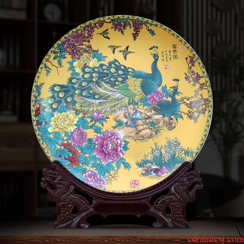 To jingdezhen ceramic furnishing articles furnishing articles decoration plate diy prosperous figure disk hang dish dish