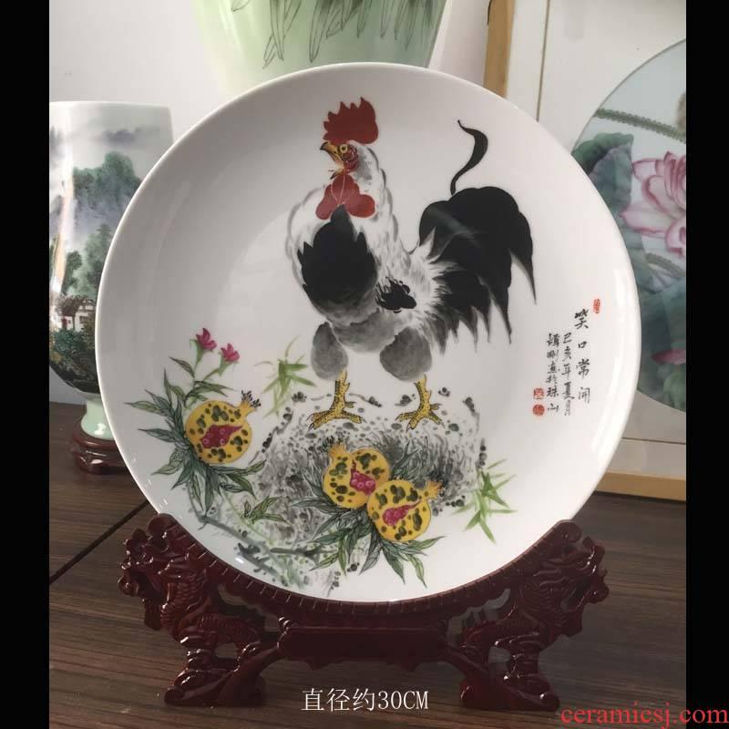 The masters of jingdezhen prosperous porcelain vases big rooster porcelain plate porcelain porcelain vase rooster figure