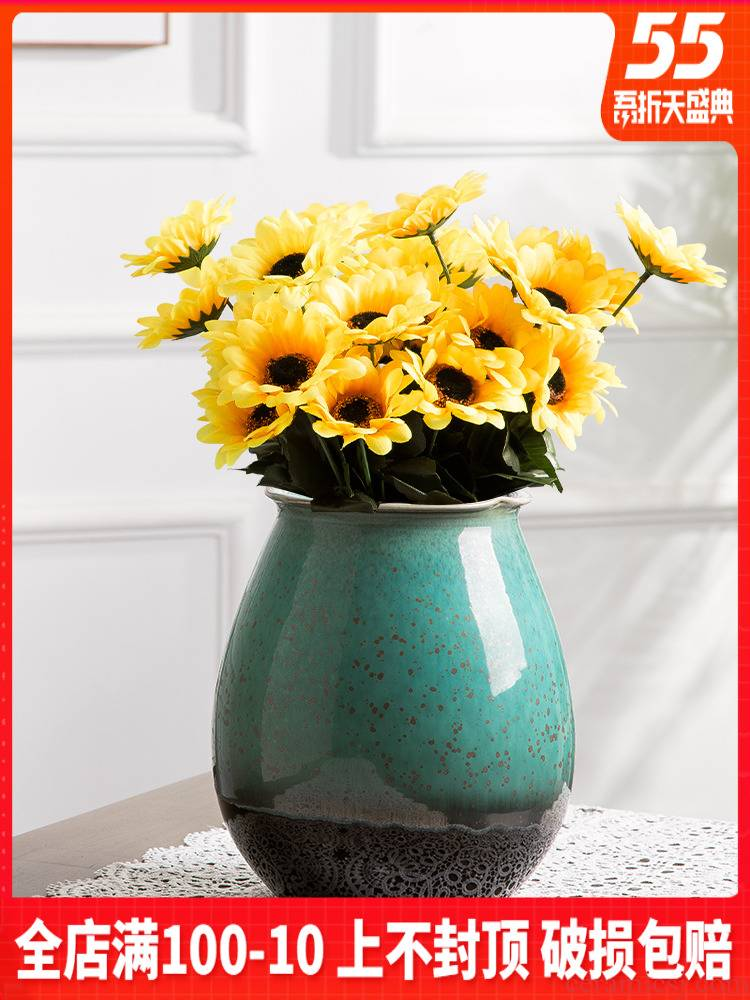 I and contracted vase dry flower arranging flowers hydroponics ceramic bottle creative little sitting room fresh furnishing articles flower arranging decorative flower pot