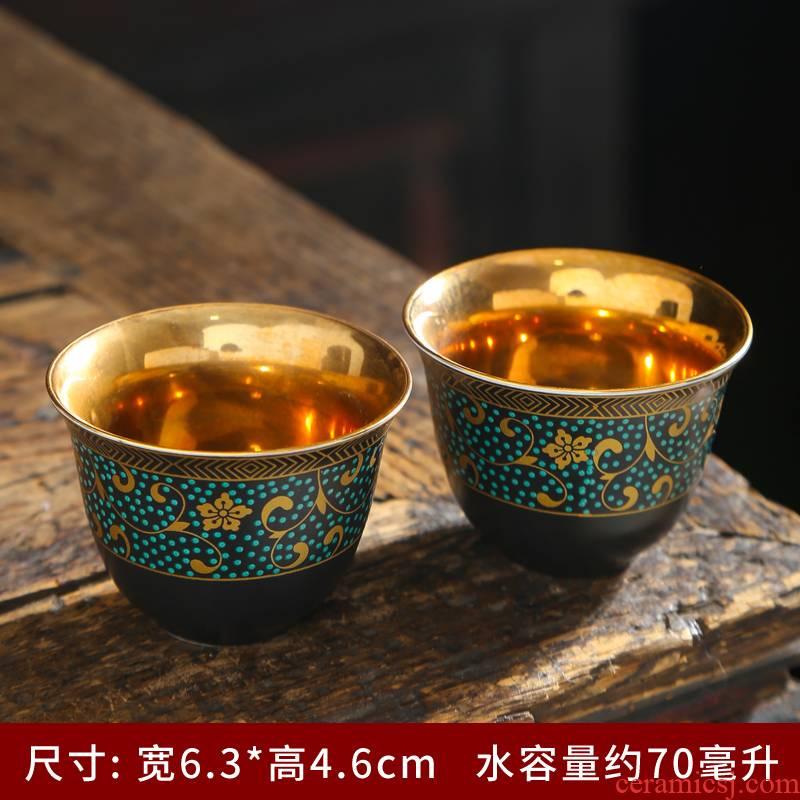 Kung fu tea ceramic sample tea cup master cup personal cup colored enamel tea cups single bowl tea cup