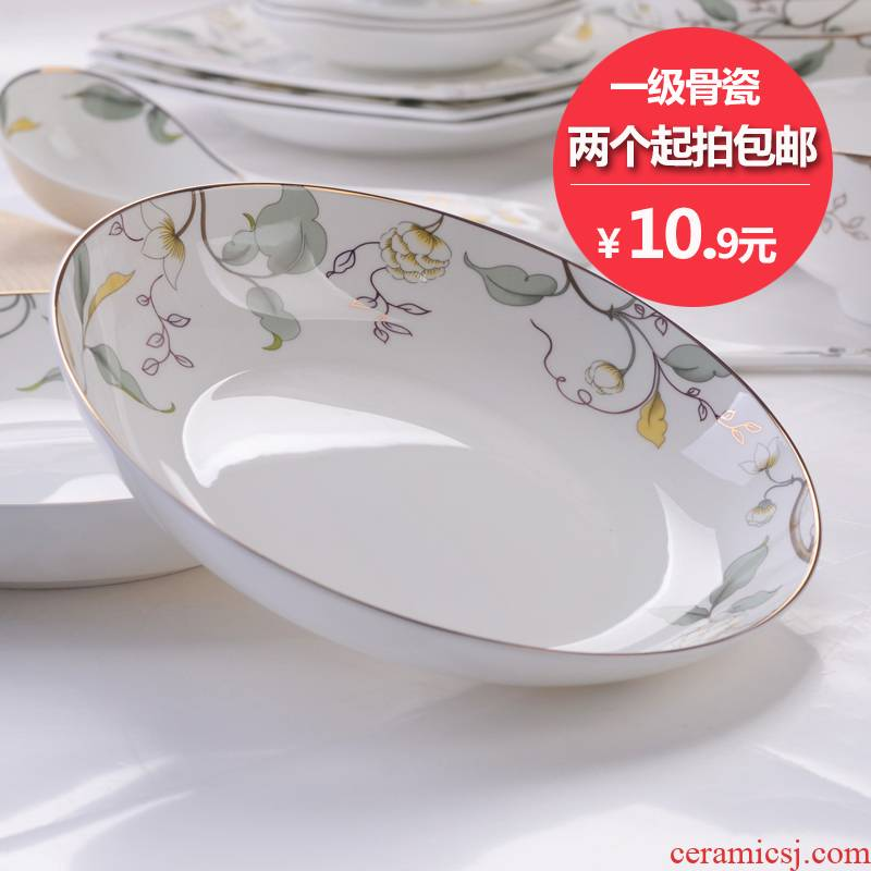 "7 ""primary ipads porcelain tangshan ceramic plate household food dish soup plate FanPan fruit bowl, square plate"