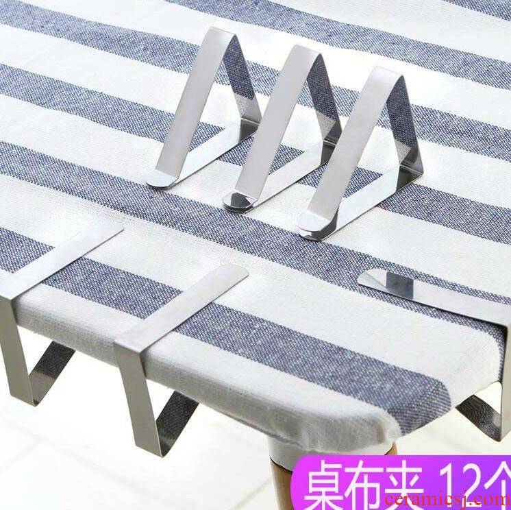 Fixed clamp skid device table table table table cloth clip sheet strength against the thick mattress non - trace and durable