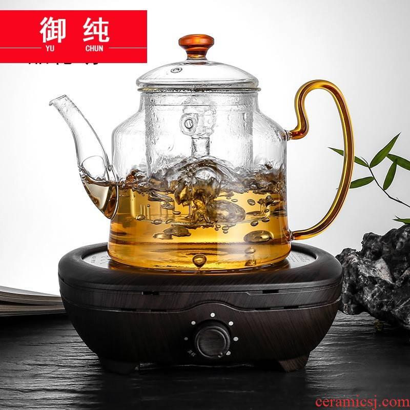 Royal pure tea steamer steaming kettle boil tea ware glass electric TaoLu steam with old white tea and black tea tea tea at room temperature