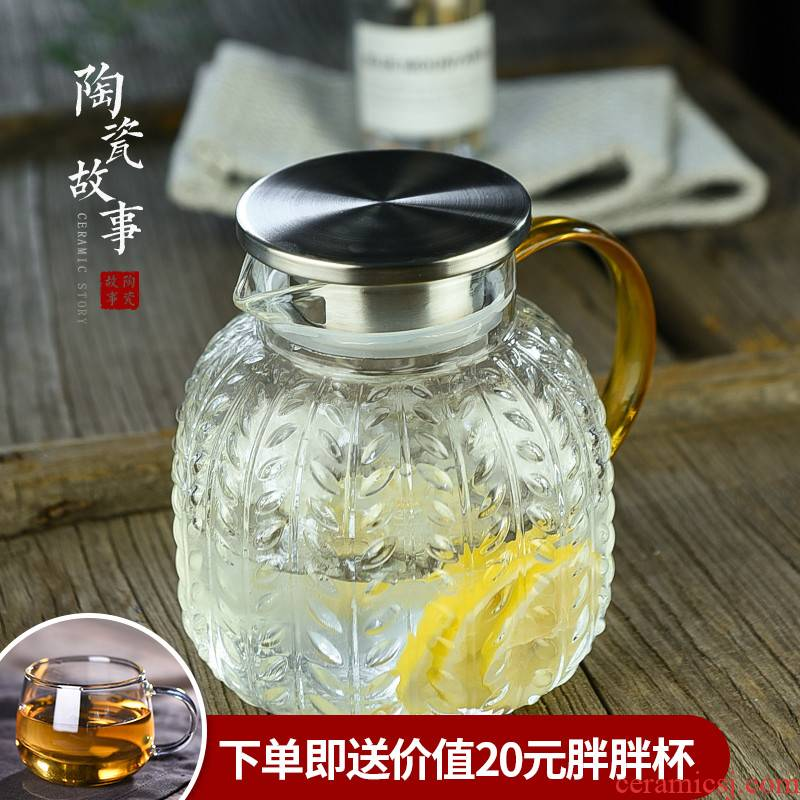 Ceramic story high - temperature Nordic creative drinking a cup of cold water bottle glass suits for pot of large capacity cool water bottle