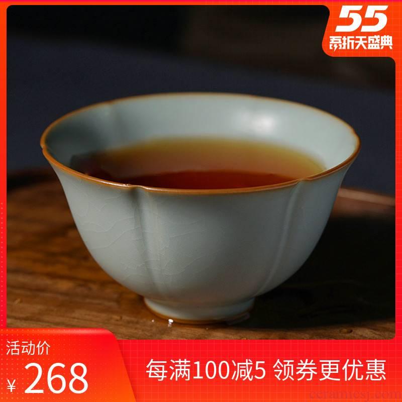 Ru up market metrix who cup open piece of jingdezhen kunfu tea sample tea cup for its ehrs single cup tea thin foetus manual your porcelain, celadon