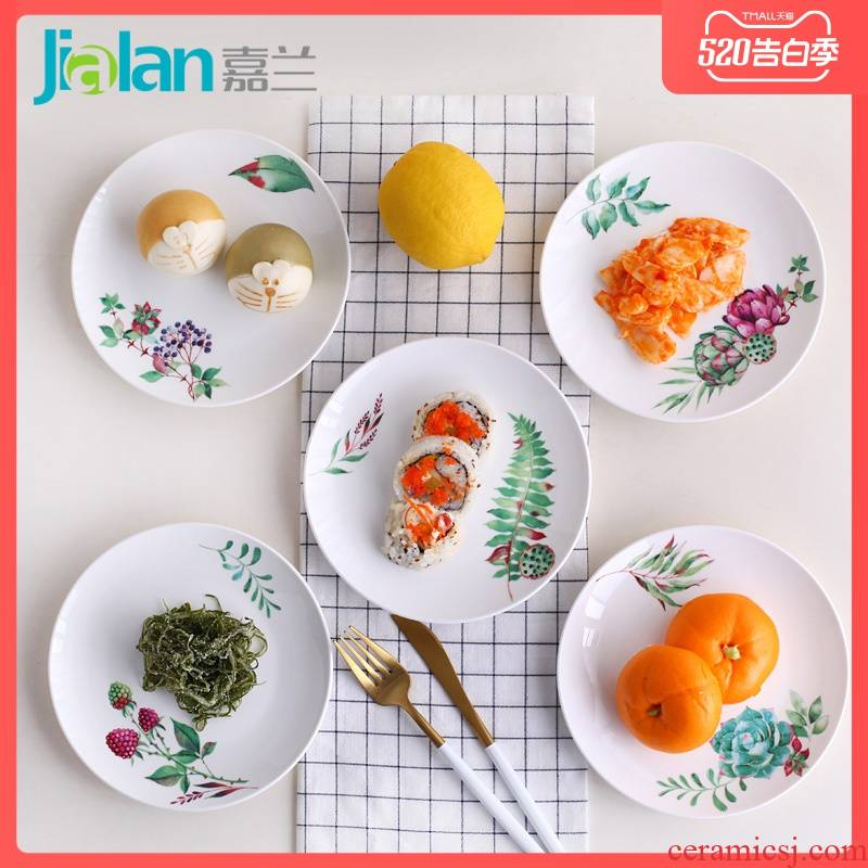 Garland ipads China 6 inches ipads plate to spit the ipads plate household ceramics creative taste dishes sweet little ladies