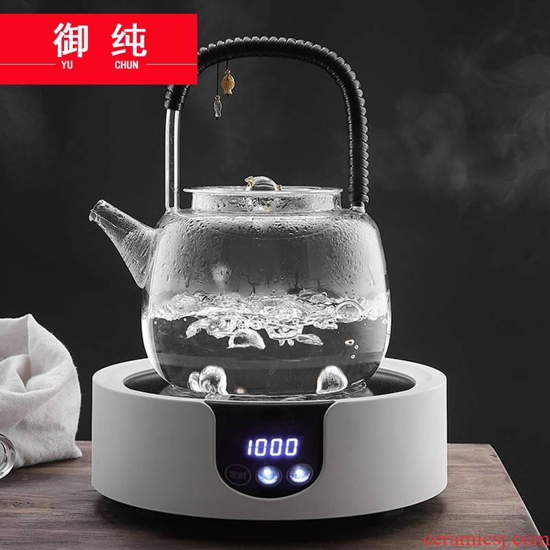 Royal pure glass kettle household cooking pot filtering teapot heat - resistant kung fu tea set electric TaoLu the girder pot