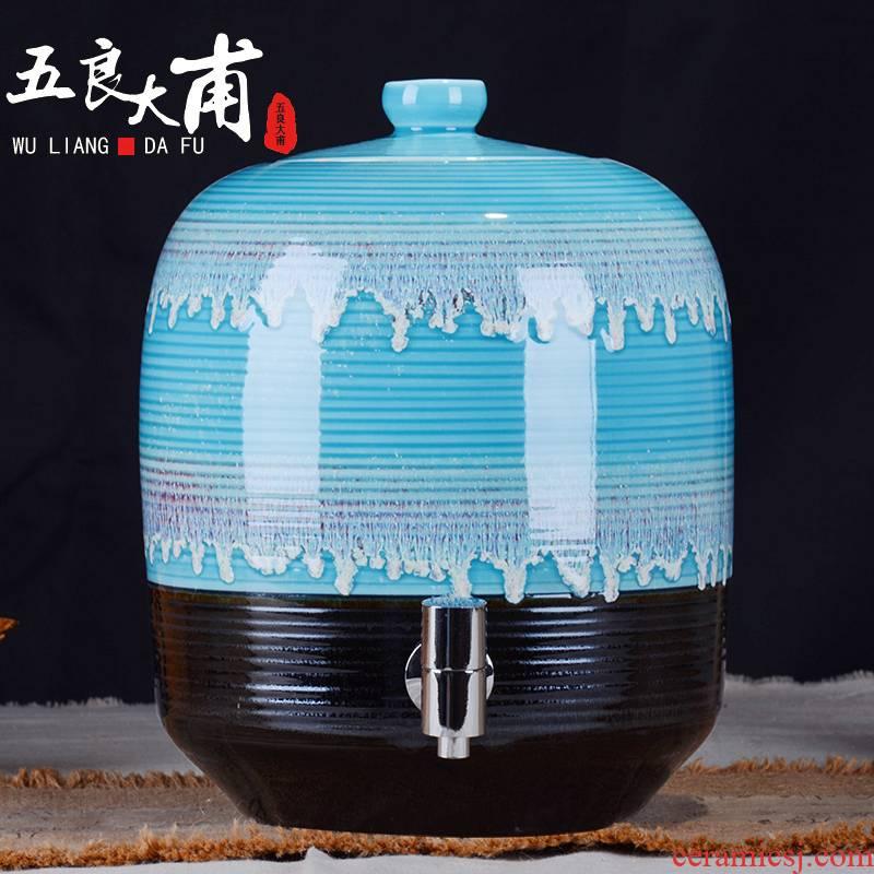 Ceramic tank it barrel with leading 10 jins 20 jins 30 jin tea cylinder cylinder jingdezhen Ceramic pot