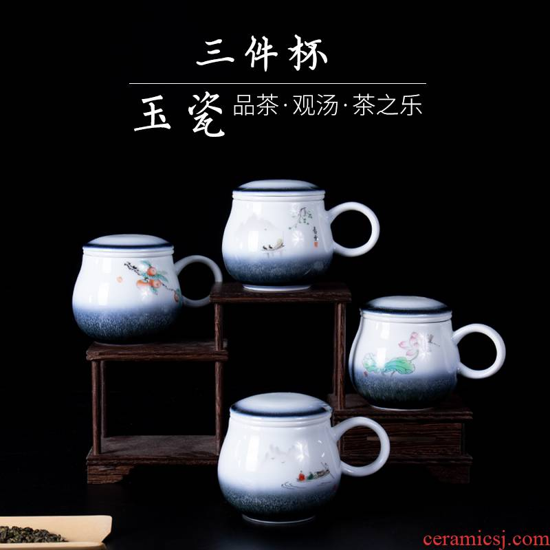Ronkin creative move jade China cups of household ceramic cups of coffee cup keller tide lovers ultimately responds cup