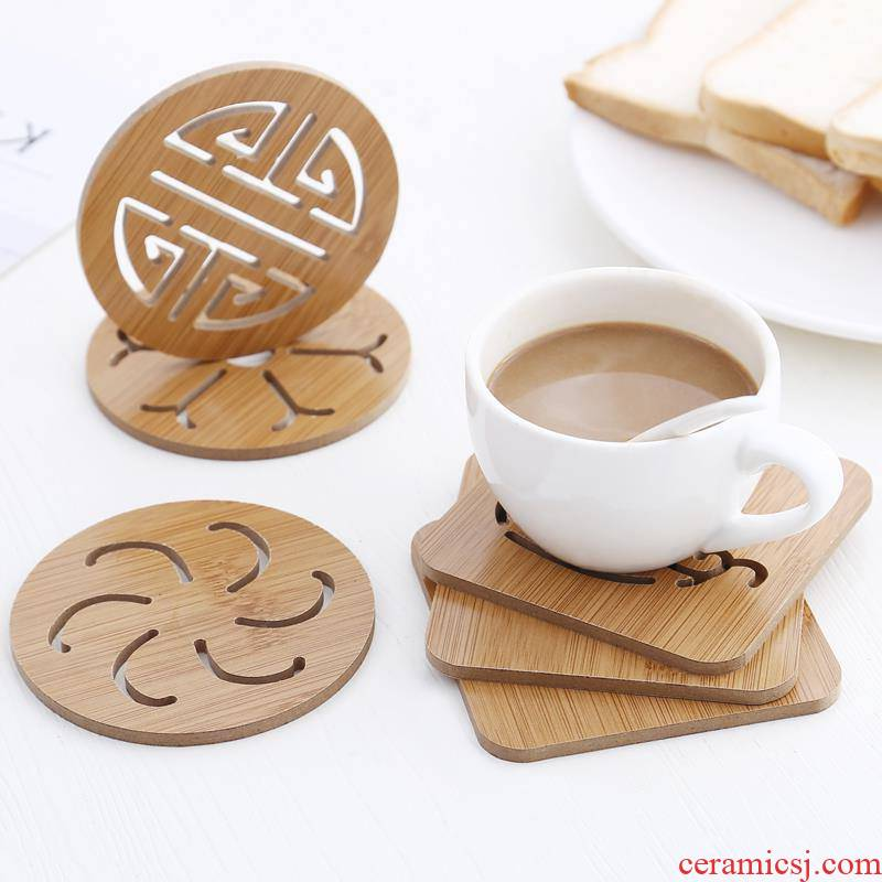 Insulation pad household cup mat bowls mat kitchen wooden hot plate 0 cup the eat mat table MATS