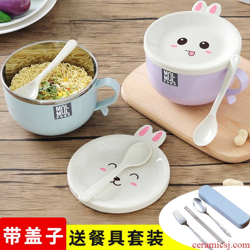 Antarctic treasure stainless steel tableware lunch box mercifully rainbow such use cartoon express bento lunch box li riceses leave students with cover