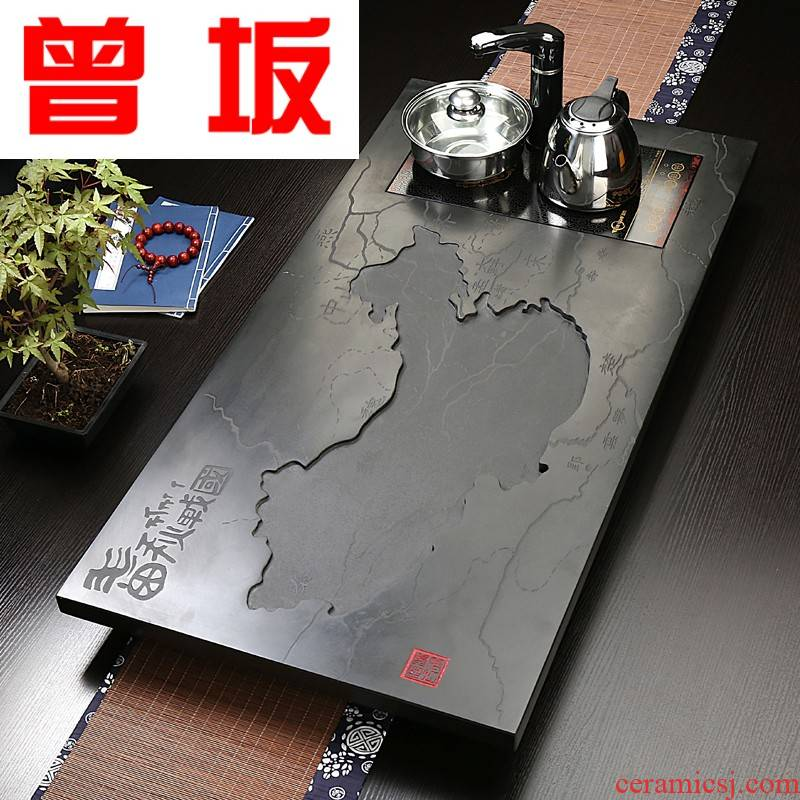 The Who -- natural whole stone big in number sharply stone blocks induction cooker tea tea tray across indicates the Taiwan strait, the spring and autumn period and the warring states period