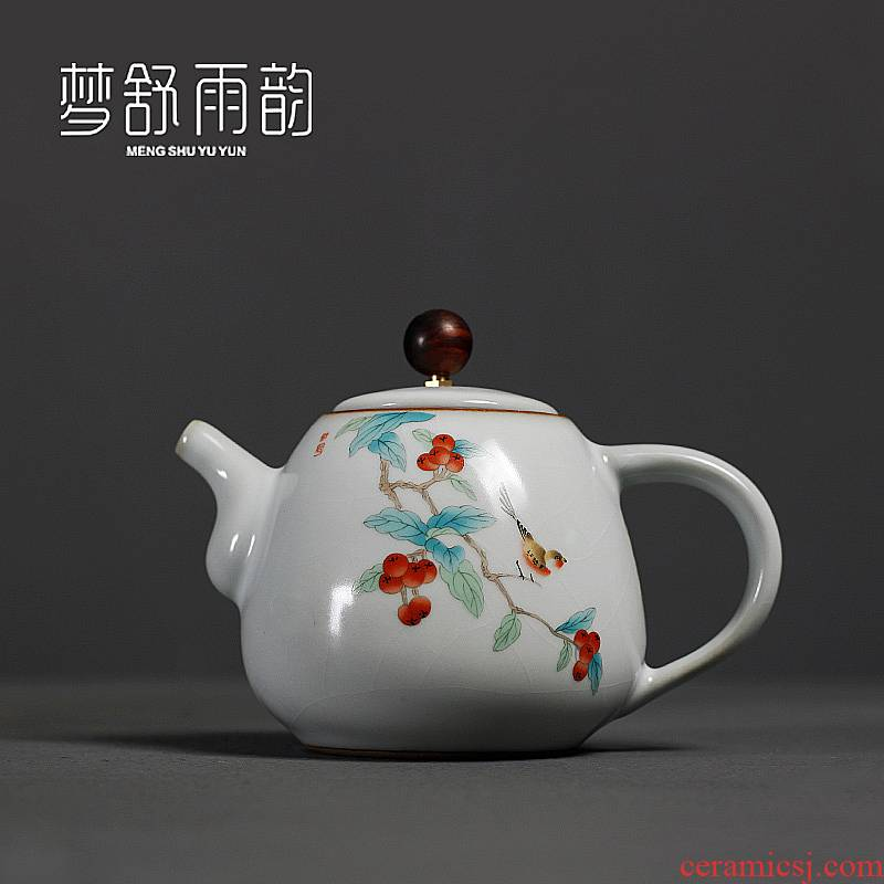 Employed in which your up kung fu tea kettle on your porcelain tea quality goods can keep single pot of ceramic household trumpet