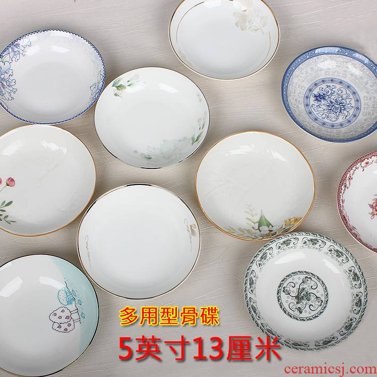 5 inches Ceramic dish pickles multi - purpose small plate disc disc points eats ipads plate hot pot dip seasoning disc 4