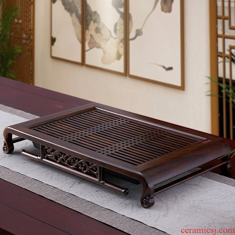 Han and tang dynasties tea tray was solid wood home draw out water tea suit small tea sea drainage kunfu tea tray