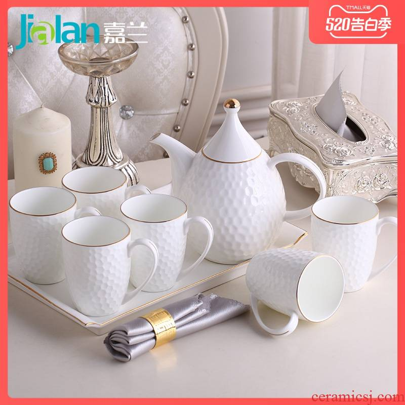 Garland ipads porcelain home water body suit European up phnom penh contracted a cold hot water cup with cover ceramic pot of combination
