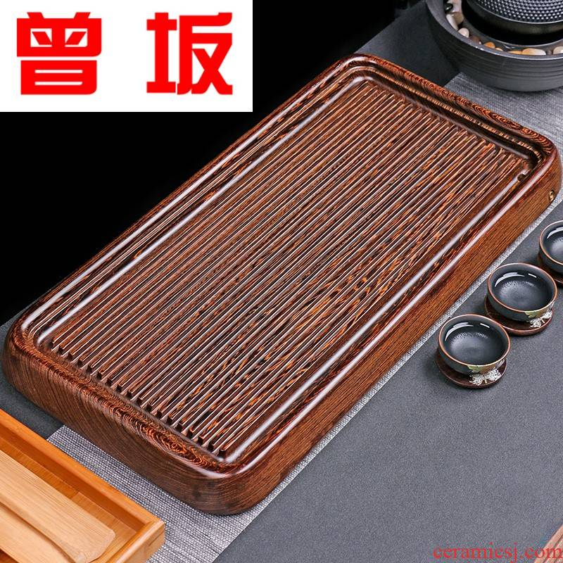 The Who -- chicken wings wood tea tray, the whole piece of solid wood tea sea sharply stone tea tray was contracted household bakelite type tea table sheet