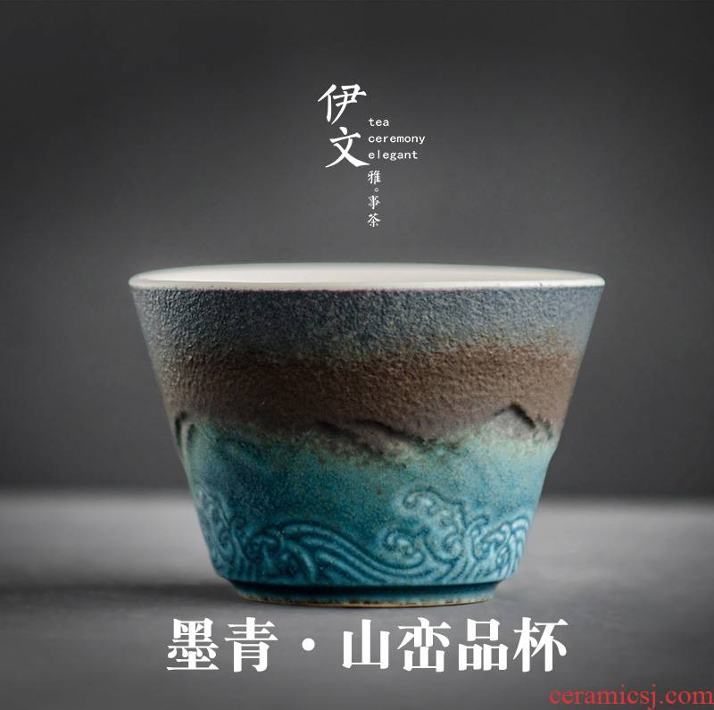 Evan ceramic sample tea cup kung fu tea master cup single CPU individual cup of coarse pottery teacup small tea cups