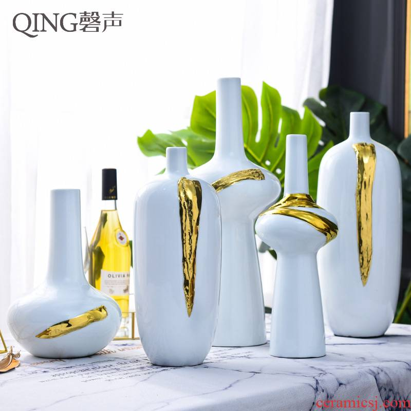 The Nordic ceramic vases, contracted and I home sitting room adornment ornament table dry flower arranging flowers is placed flowers